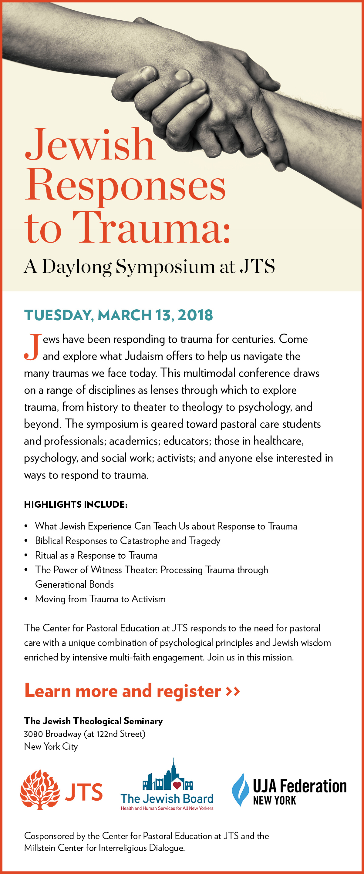 Jewish Responses to Trauma: A Daylong Symposium at JTS - Tuesday, March 13