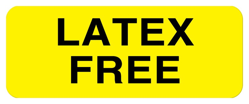 Latex Free Label