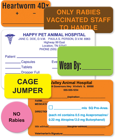 Custom Vet Labels