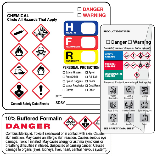 GHS Hazard Label by UAL