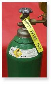 UAL Oxygen Tank Label
