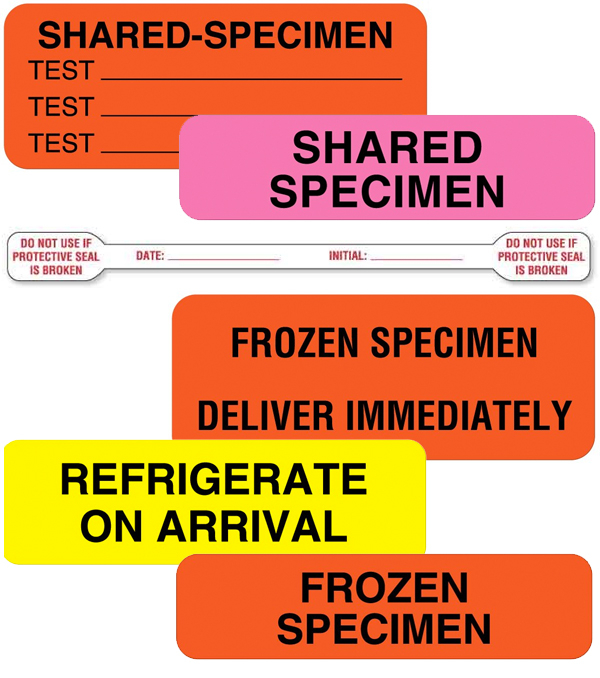 infection prevention labels by UAL